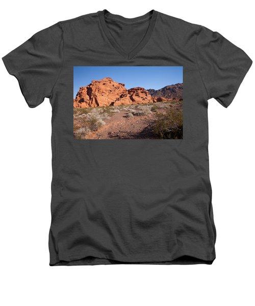Desert Rock Formations Men's V-Neck T-Shirt