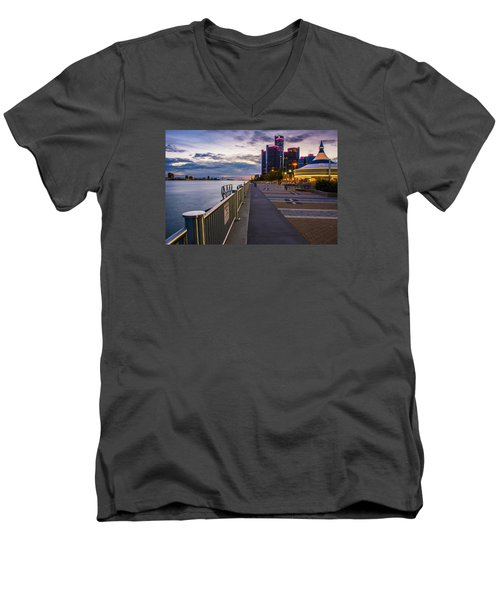 Detroit River Walk Men's V-Neck T-Shirt