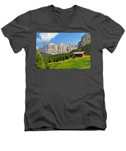 Dolomiti - High Fassa Valley Men's V-Neck T-Shirt