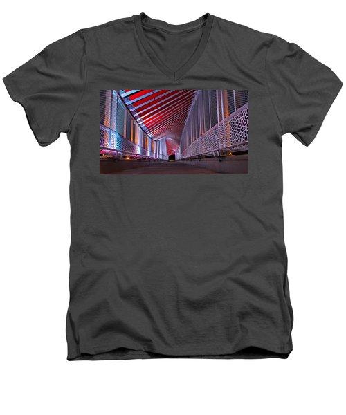 Double Helix Footbridge Men's V-Neck T-Shirt
