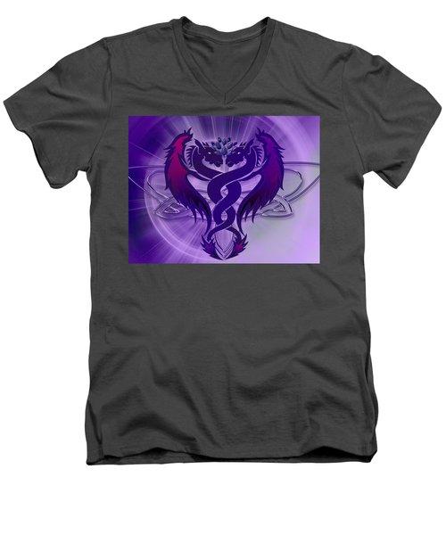 Dragon Duel Series 4 Men's V-Neck T-Shirt