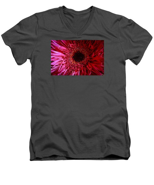 Men's V-Neck T-Shirt featuring the photograph Dressy by Julie Andel