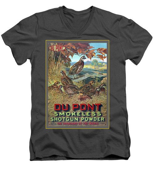 Du Pont Smokeless Men's V-Neck T-Shirt