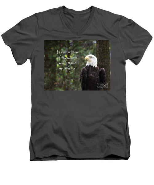 Eagle Scripture Men's V-Neck T-Shirt