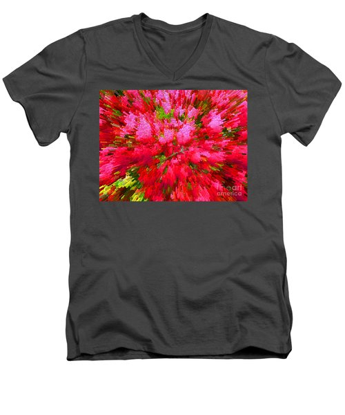 Explosion Of Spring Men's V-Neck T-Shirt by Alys Caviness-Gober