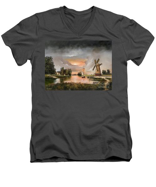 Fairhaven Mill Men's V-Neck T-Shirt