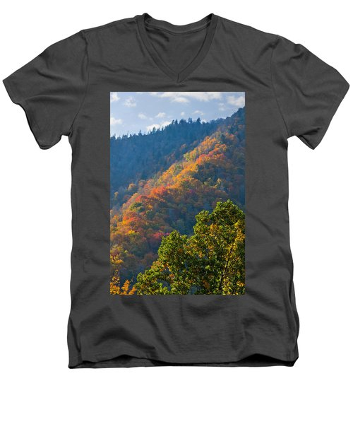 Fall Smoky Mountains Men's V-Neck T-Shirt