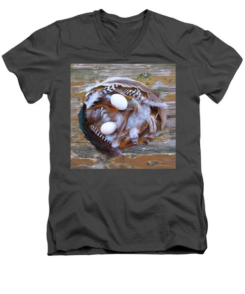 53. Feather Wreath Can Be Ordered Men's V-Neck T-Shirt