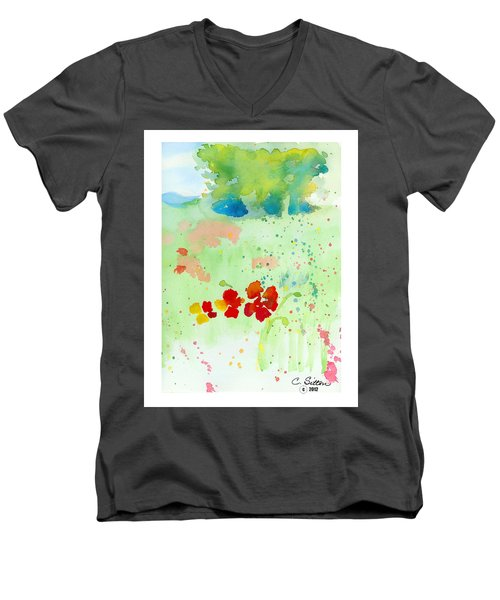 Field Of Flowers Men's V-Neck T-Shirt by C Sitton