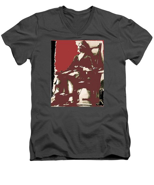 Film Homage Picture Snatcher Number 1 1933 Ruth Snyder Execution January 1928-2013 Men's V-Neck T-Shirt