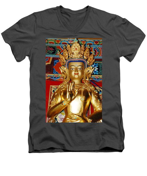 Five Dhyani Buddhas Men's V-Neck T-Shirt by Lanjee Chee