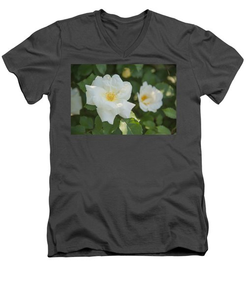 Floral Beauty Men's V-Neck T-Shirt
