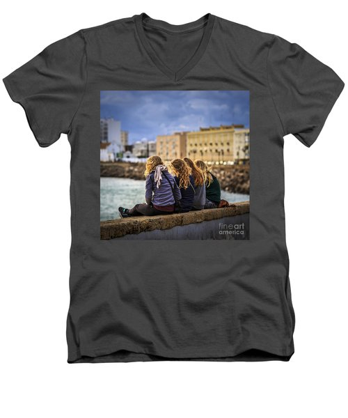 Foreign Students Cadiz Spain Men's V-Neck T-Shirt