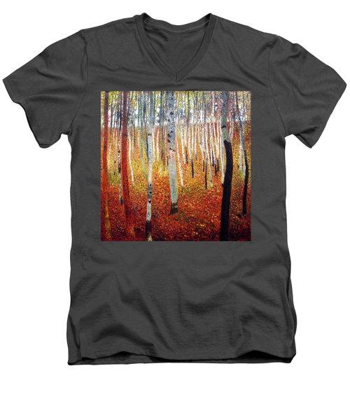 Forest Of Beech Trees Men's V-Neck T-Shirt