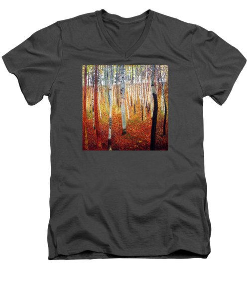 Forest Of Beech Trees Men's V-Neck T-Shirt