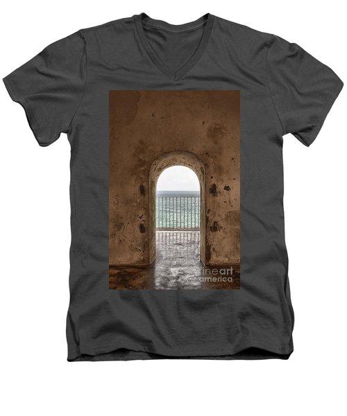Fort Castillo San Felipe Del Morro Men's V-Neck T-Shirt