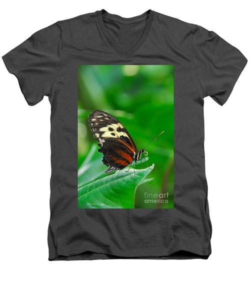 D5l15 Butterfly At Franklin Park Conservatory Men's V-Neck T-Shirt