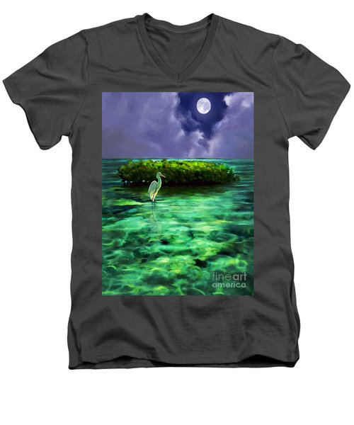 Full Moon Fishing Men's V-Neck T-Shirt