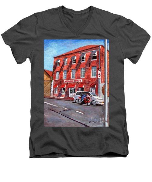 Georgian Style Men's V-Neck T-Shirt