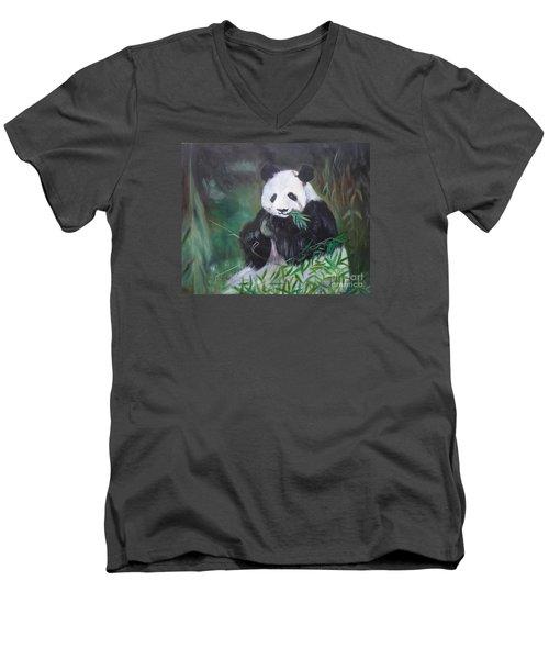 Giant Panda 1 Men's V-Neck T-Shirt