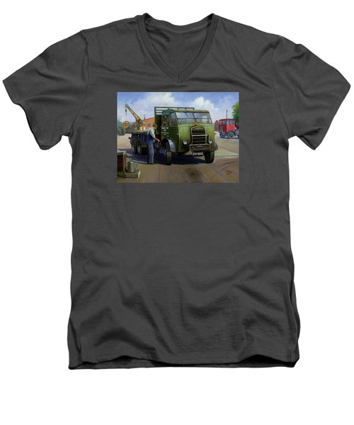 Gpo Foden Men's V-Neck T-Shirt by Mike  Jeffries