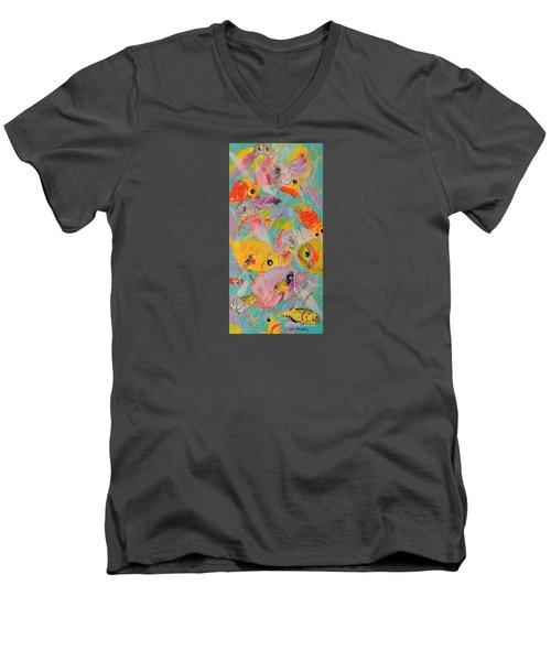 Great Barrier Reef Fish Men's V-Neck T-Shirt by Lyn Olsen