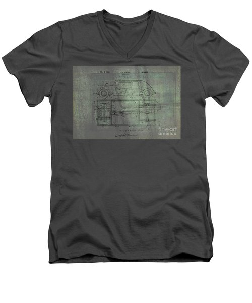 Harleigh Holmes Automobile Patent From 1932 Men's V-Neck T-Shirt