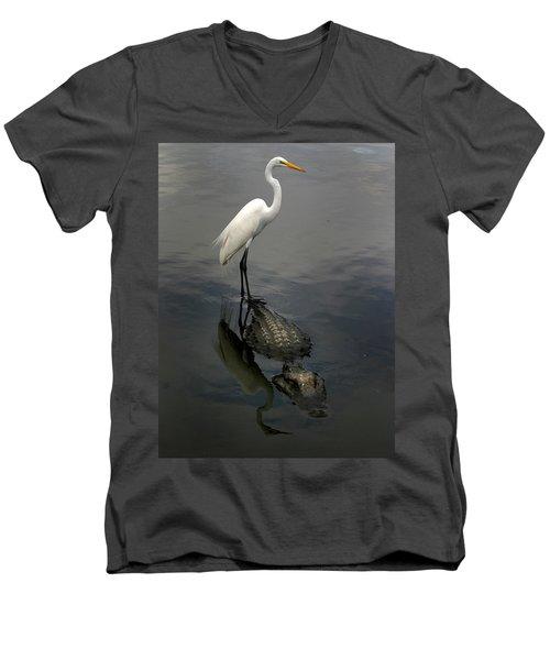 Hitch Hiker Men's V-Neck T-Shirt by Anthony Jones