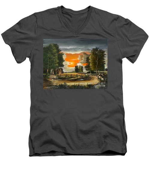 Hoggets Farm Men's V-Neck T-Shirt