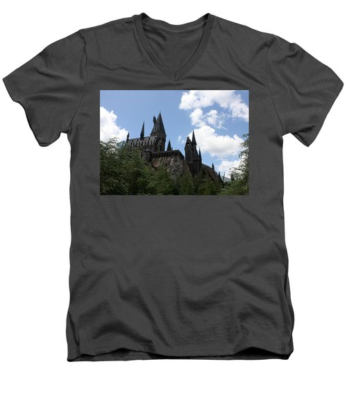 Hogwarts Castle Men's V-Neck T-Shirt