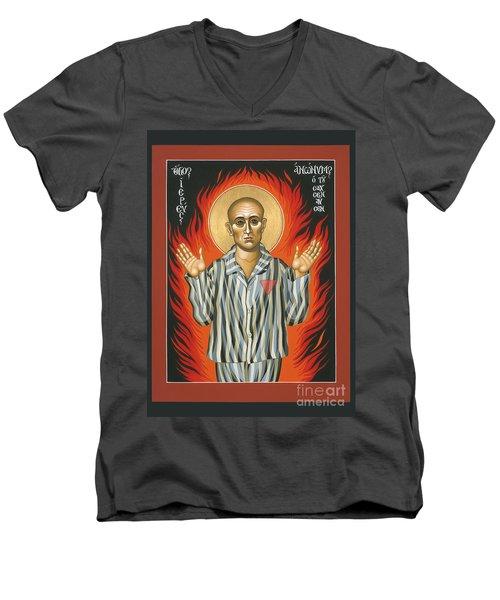 Holy Priest Anonymous One Of Sachsenhausen 013 Men's V-Neck T-Shirt