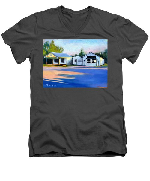 Huckstep's Garage Free Union Virginia Men's V-Neck T-Shirt
