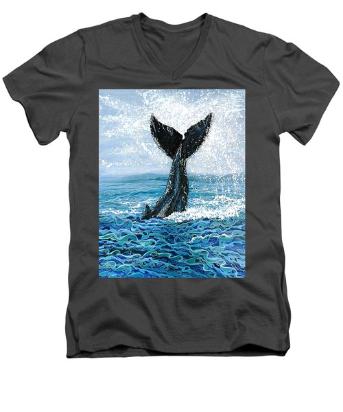 Humpback Flukes Men's V-Neck T-Shirt