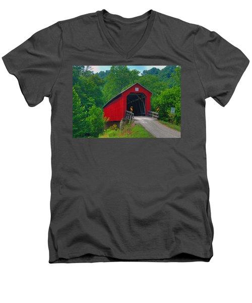 Hune Covered Bridge Men's V-Neck T-Shirt