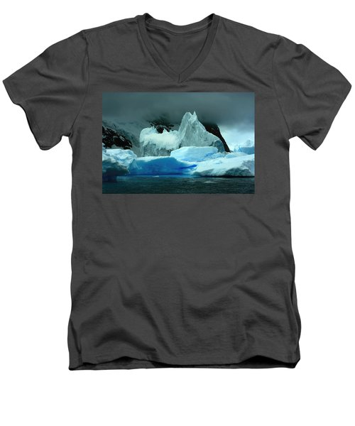 Men's V-Neck T-Shirt featuring the photograph Iceberg by Amanda Stadther