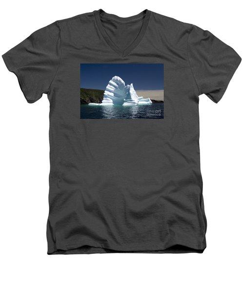 Men's V-Neck T-Shirt featuring the photograph Iceberg by Liz Leyden
