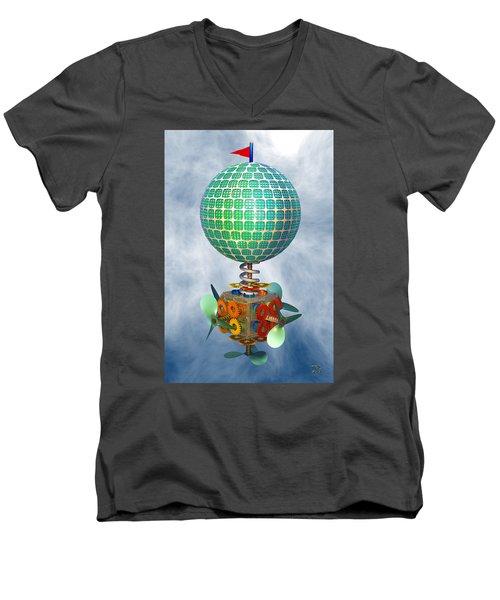 Improbability Men's V-Neck T-Shirt by Manny Lorenzo