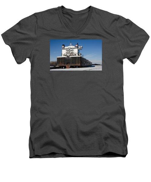 Indiana Harbor 4 Men's V-Neck T-Shirt by Susan  McMenamin