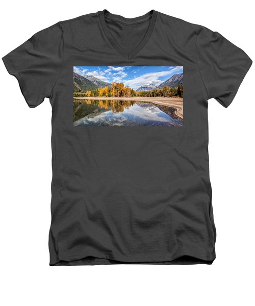 Men's V-Neck T-Shirt featuring the photograph Into The Wild by Aaron Aldrich