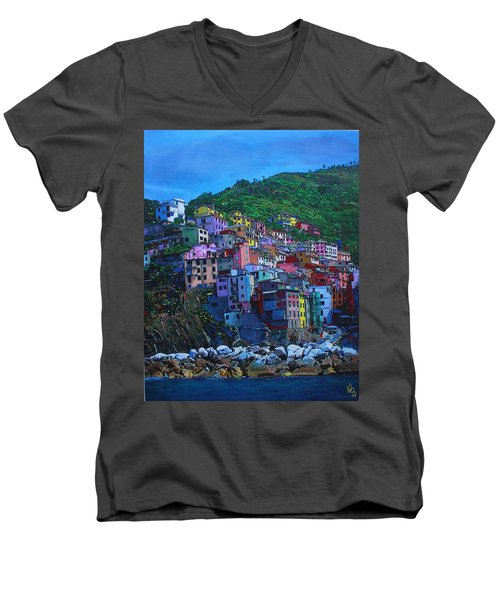 Italia Men's V-Neck T-Shirt