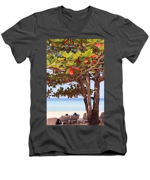 Jamaican Day Men's V-Neck T-Shirt