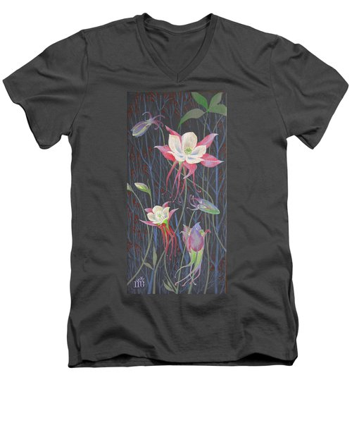 Japanese Flowers Men's V-Neck T-Shirt
