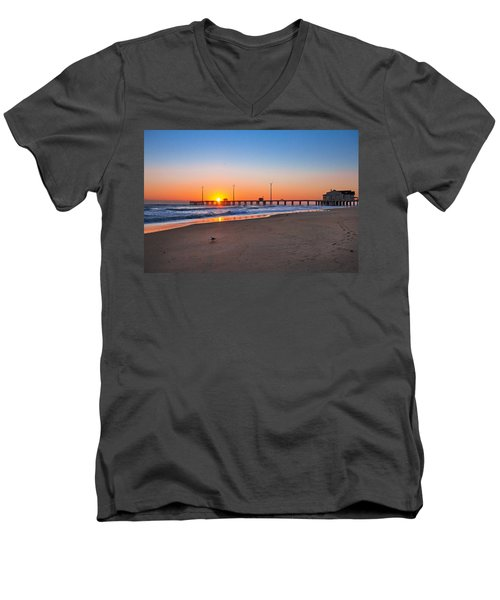 Jennettes Pier Men's V-Neck T-Shirt