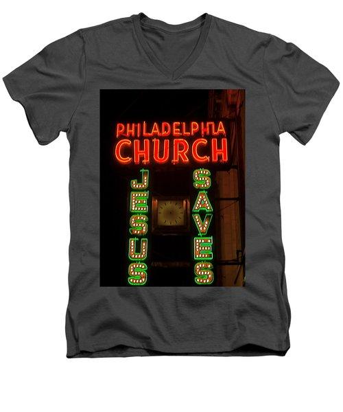 Jesus Saves Men's V-Neck T-Shirt