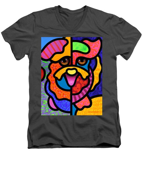 Happy Dog Men's V-Neck T-Shirt