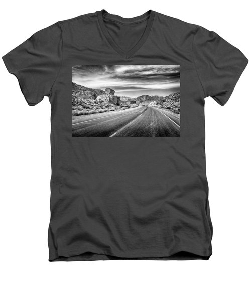 Kyle Canyon Road Men's V-Neck T-Shirt by Howard Salmon