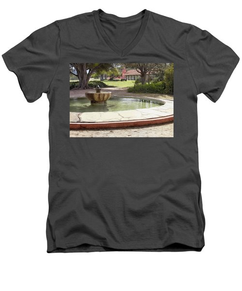 La Purisima Fountain Men's V-Neck T-Shirt
