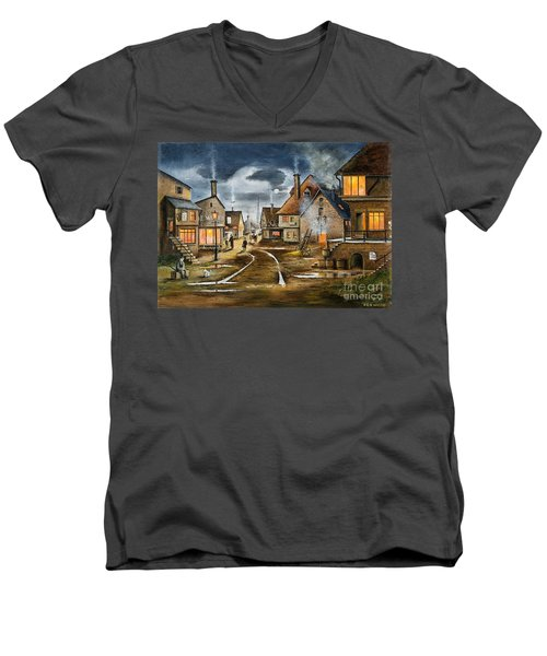 Lady At The Window Men's V-Neck T-Shirt