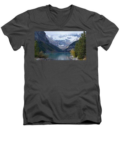 Lake Louise In Fall Men's V-Neck T-Shirt by Cheryl Miller