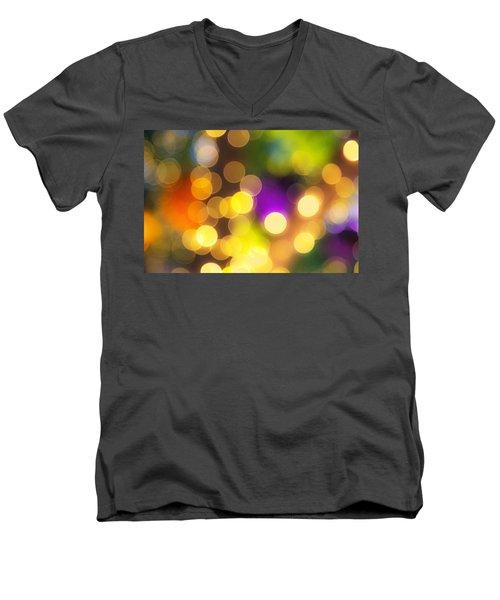 Light Circles Men's V-Neck T-Shirt by Susan Stone